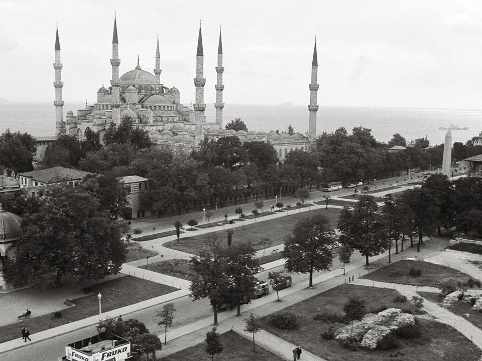 Istanbul Blick auf Blaue Moschee und Hippodrom 1967
