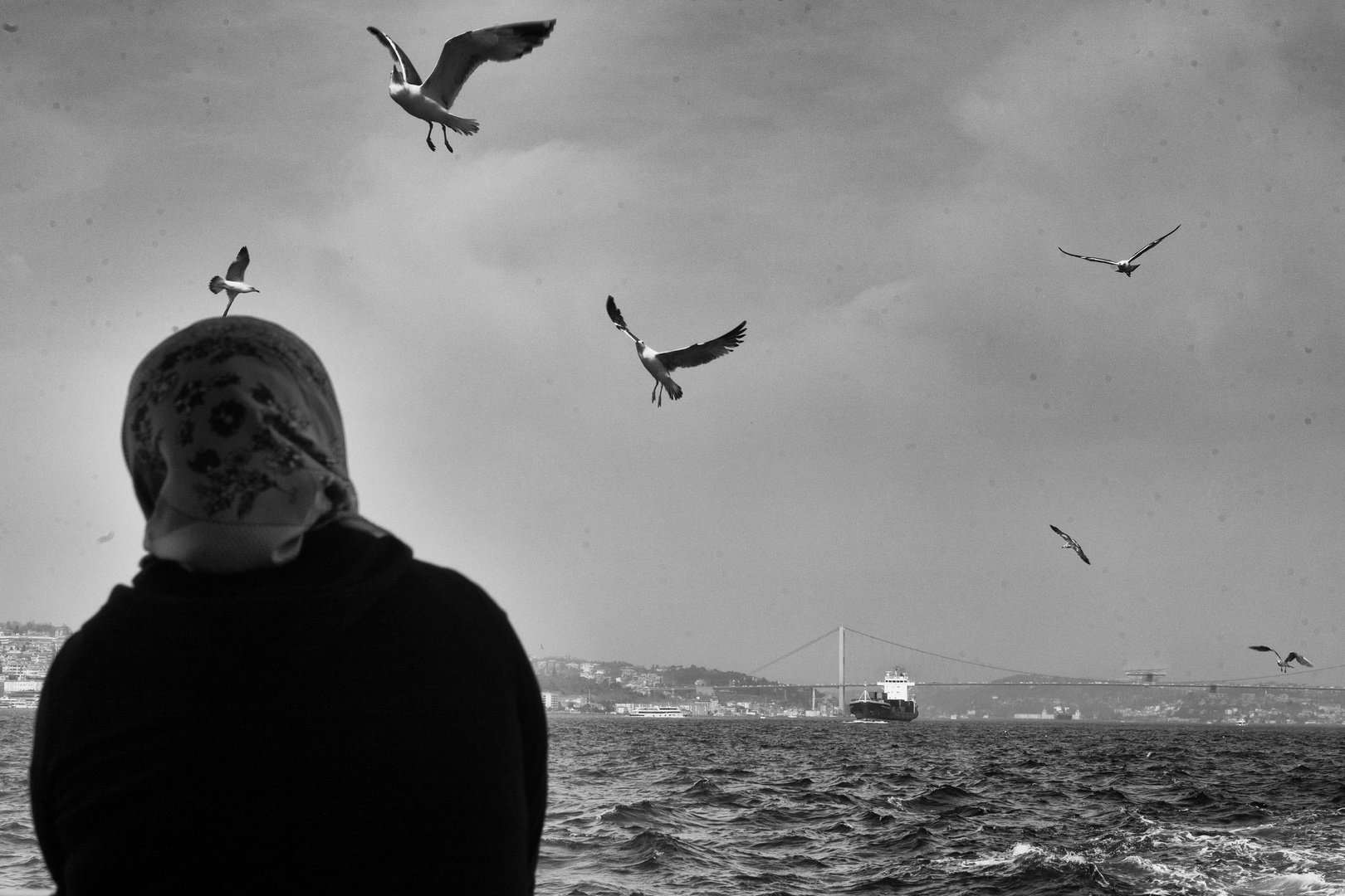 Istanbul, Bosphorus, the border between Europe and Asia