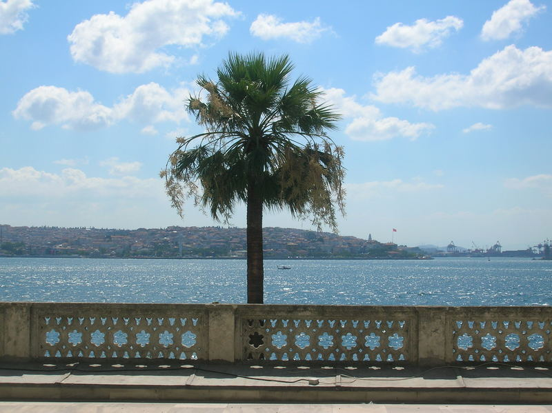 istanbul from dolmabahçe palace's window