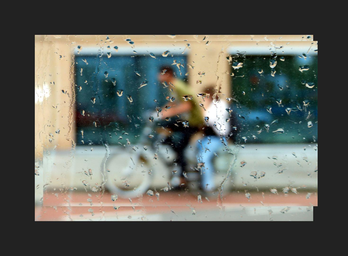 ... it began to rain