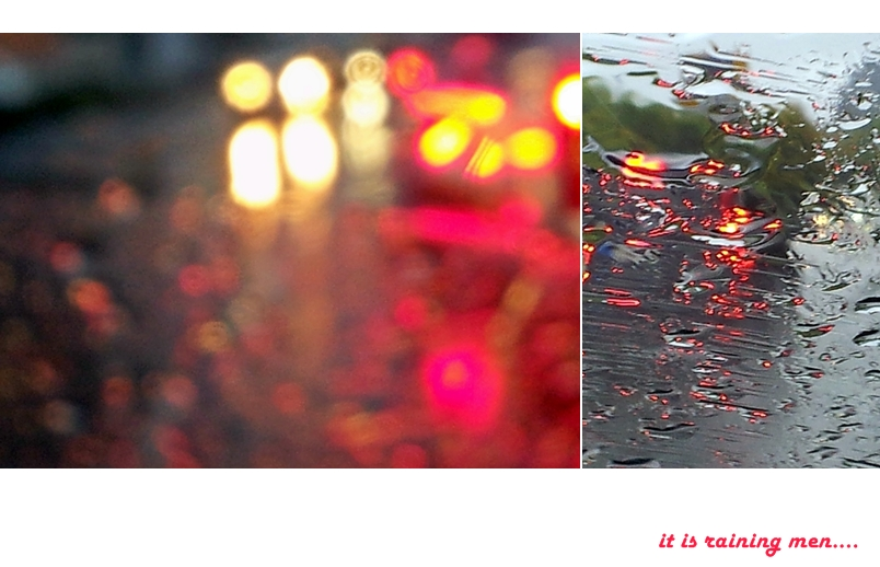 it is raining men...