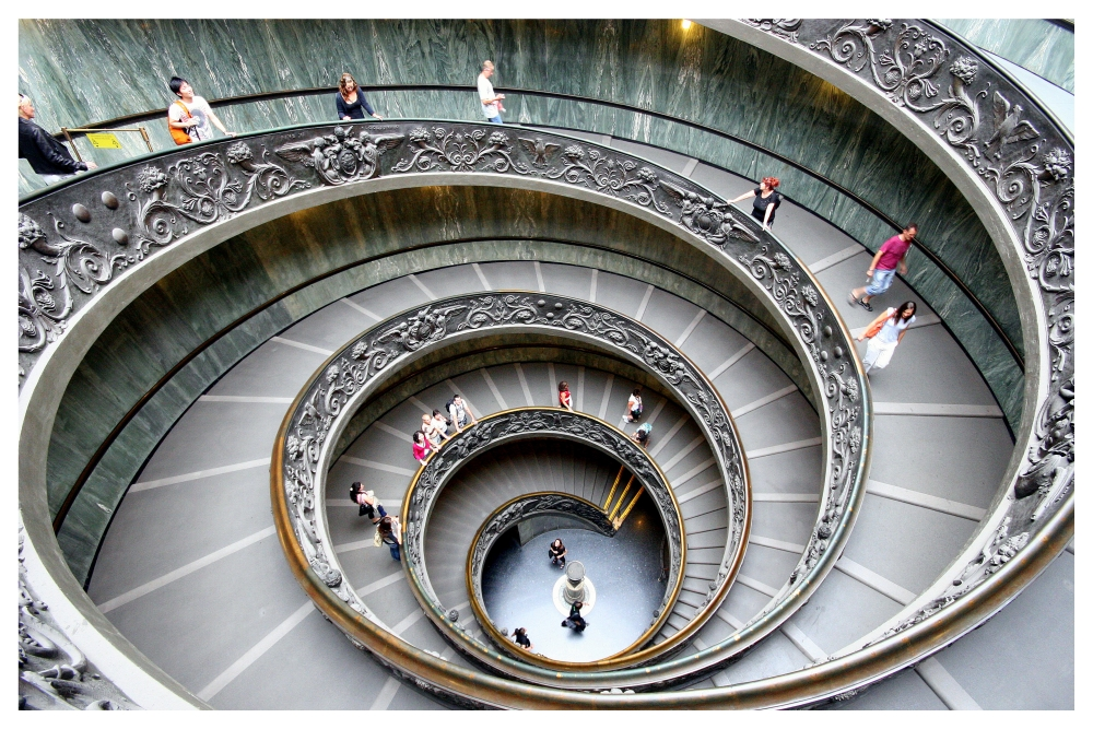 Italy #5 - Spiral stairs of the Vatican Museums