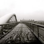 It's not so hard to cross the bridge, it all depends on who's waiting for you on the other side.