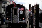 J Train Departing Marcy Avenue