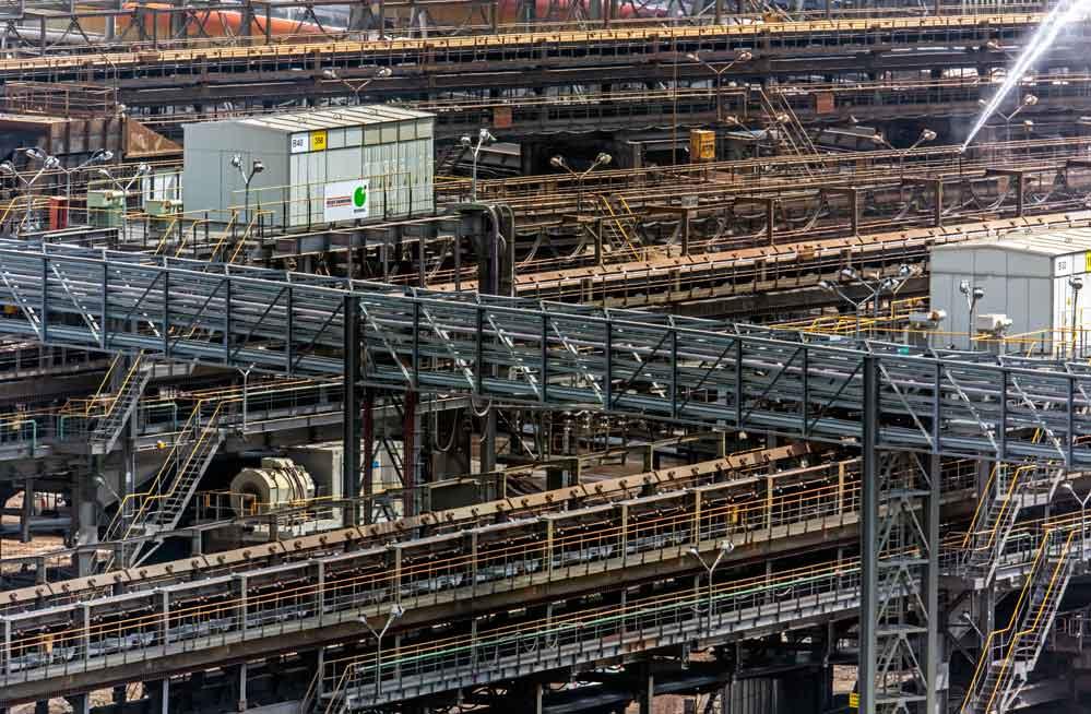 Jackerath Bandverteilanlage im Tagebau Garzweiler (Teilansicht)