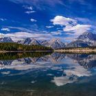Jackson Lake, Teton Range, Mt. Moran, Wyoming, USA