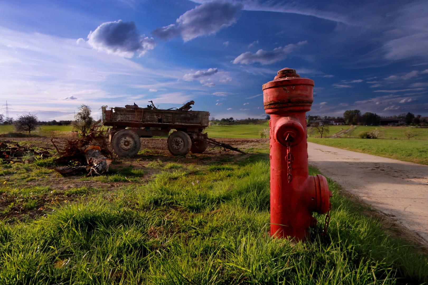 Jagd auf roter Hydrant