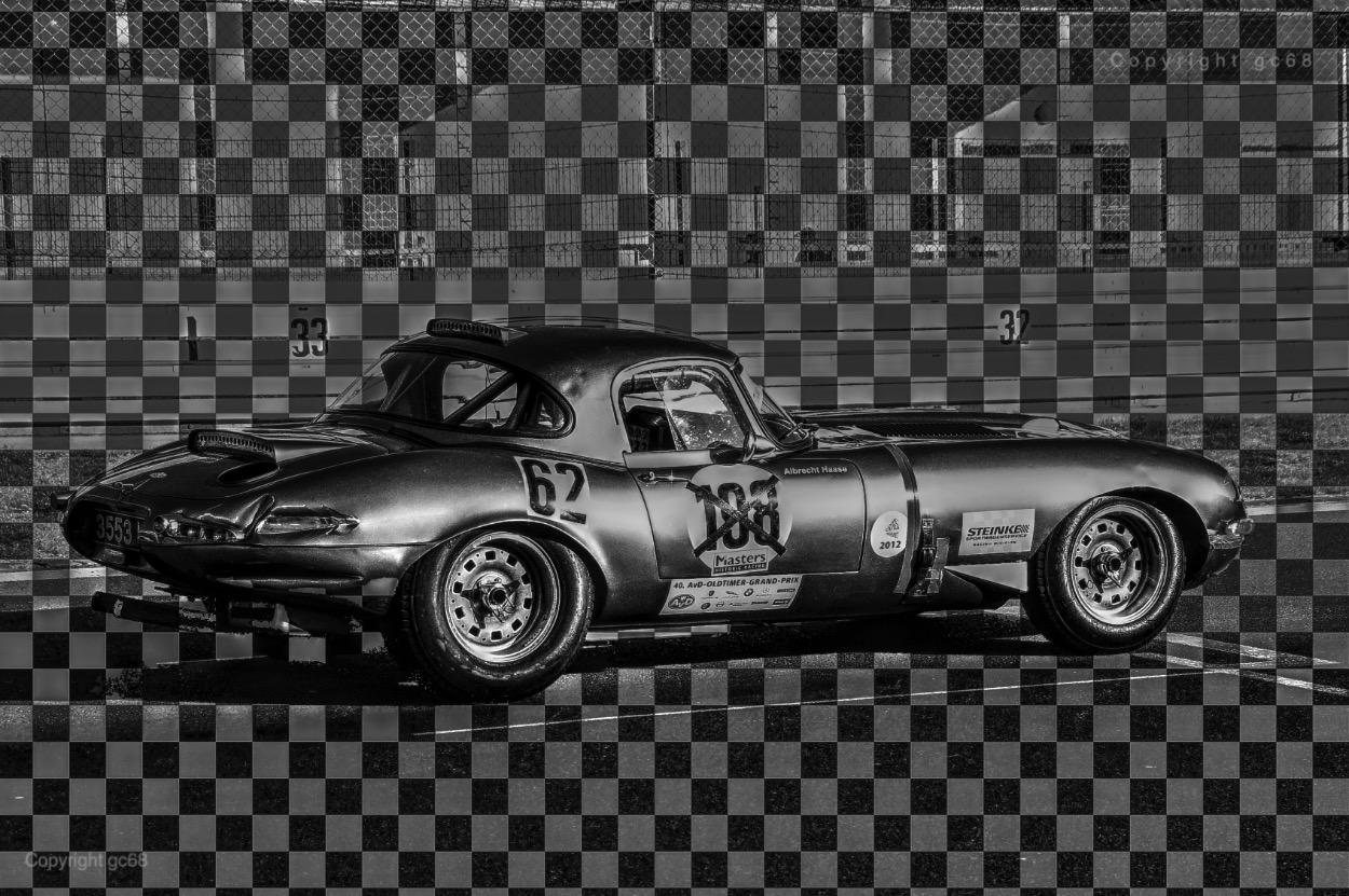Jaguar E-Type im Renntrim