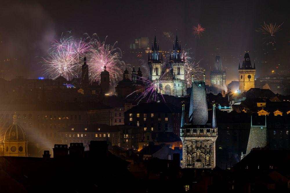 Jahreswechsel in Prag