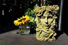 Jahreszeitenkopf mit Sonnenblume