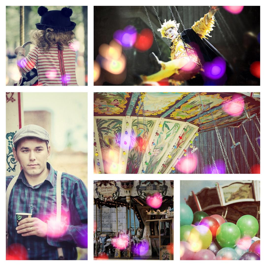 jahrmarkt foto  bild  collage menschen spaß bilder