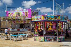 Jahrmarktsstand auf der Feria in Chiclana
