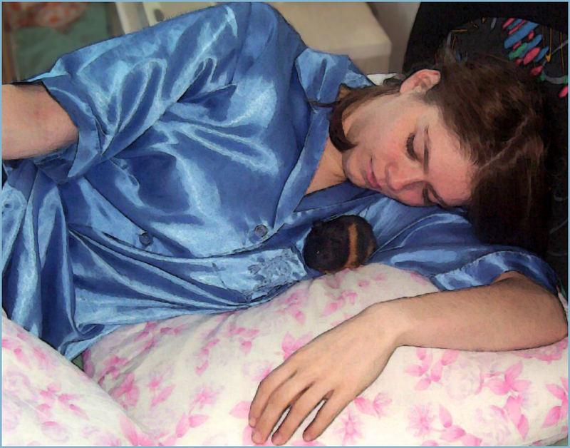Janina mit der neugeborenen Maja