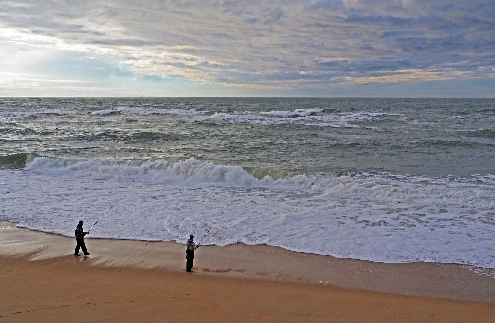 Janvier sur la plage de Capbreton