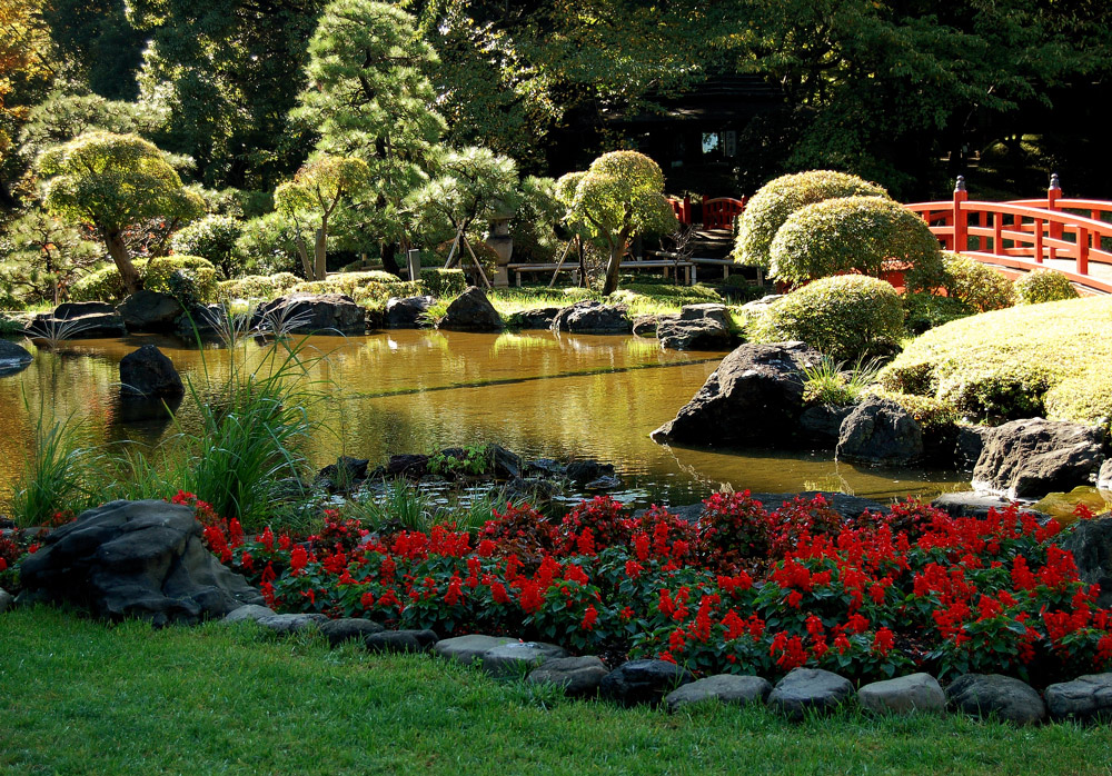 Japanische Gartenanlage