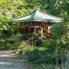 Japanische Laube im Arboretum