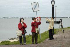 japanische Touristen auf der Insel Marken