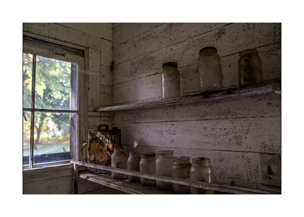 Jars left on the shelf