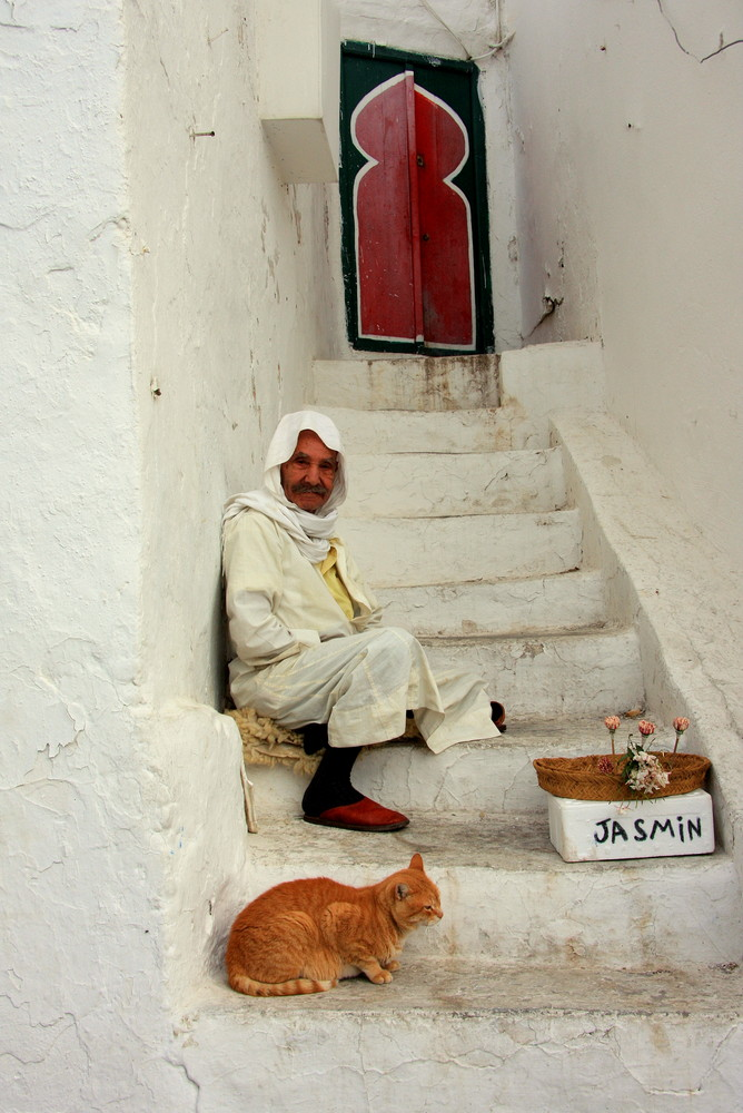 Jasminverkäufer in Sidi Bou Said - Tunesien - Nov. 2008