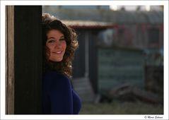 Jassi auf dem Bahnsteig in Zell am Main