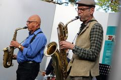 JAZZ sax duo Blue Train Ca-20-19-col +5Fotos +TIPP