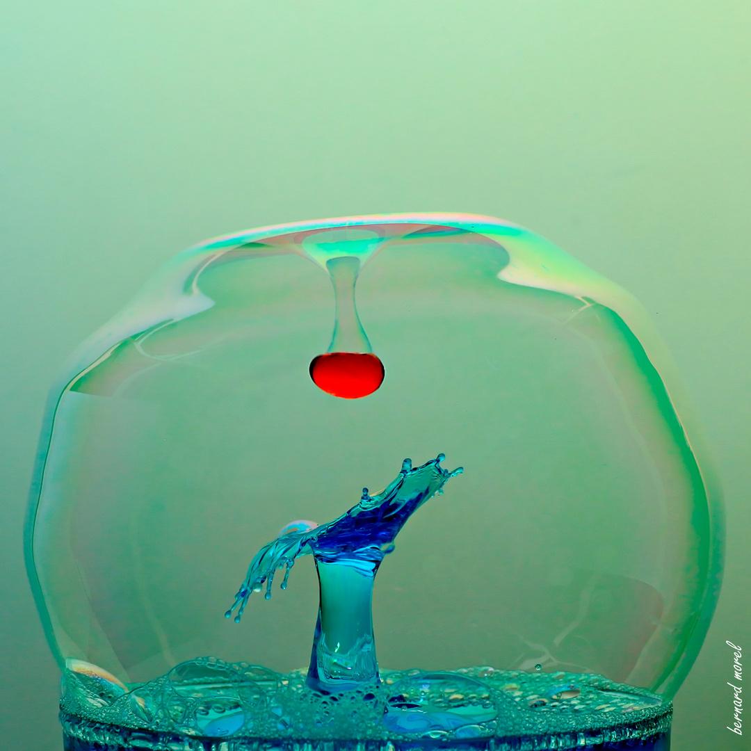 Je n'ai pas pu résister....j'ai refais une p'tite bulle....!