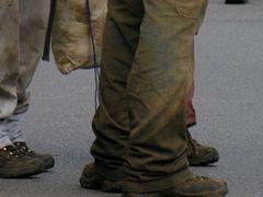 Jeans nach einem Lager-Weekend