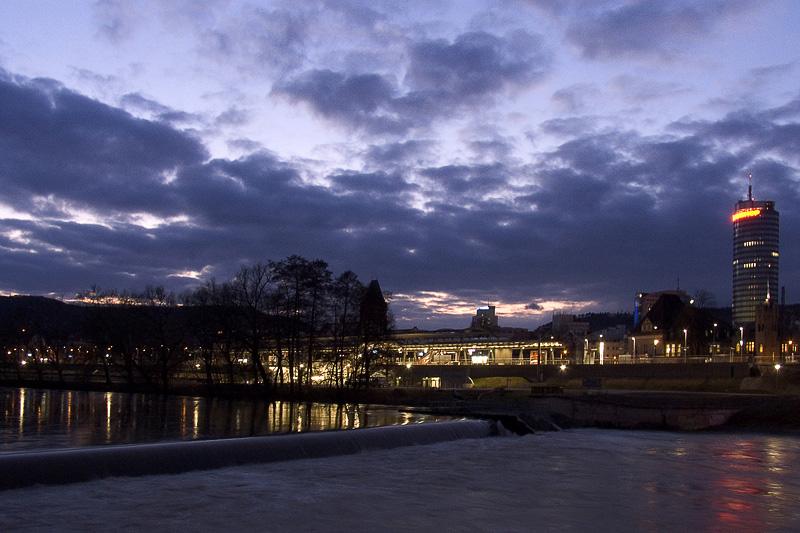 Jena, Blick zum Paradiesbahnhof