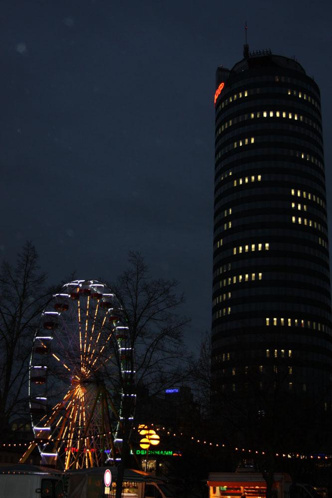 Jena by night and rain
