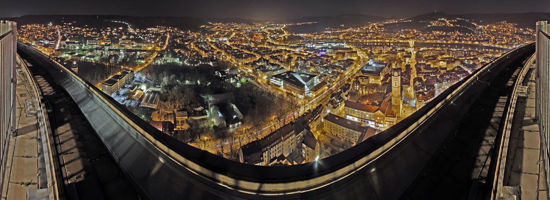 Jena vom JenTower bei Nacht