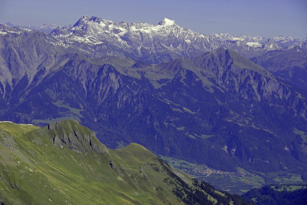 Jenins in alpiner Umgebung