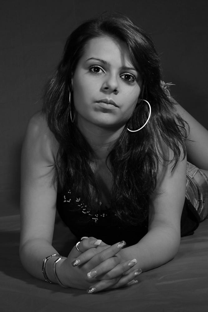 Jenny in Schwarz-Weiß