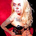 Jenny Lee Tattooist and Model Miami Beach Day of Dead Tattoo Make Up