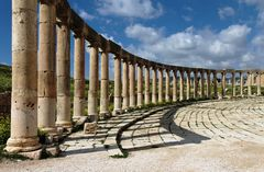 Jerash, Ovales Forum, Jordanien