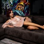 Jessica on the couch