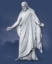 Jesusstatue in Übergr. im Visitor Centr. Utah