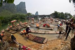 jetty operations  // final station for bamboo rafts