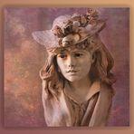 Jeune fille au chapeau fleuri