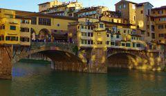 jeux de lumiere insolites sur le ponte vecchio