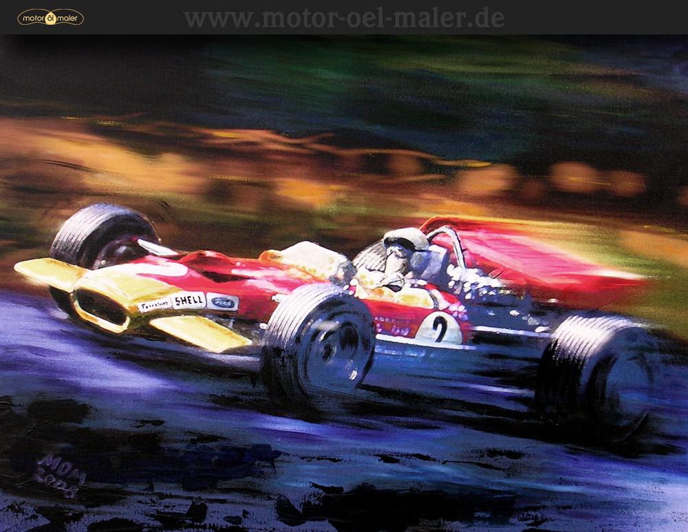 Jochen Rindt auf Lotus 49B