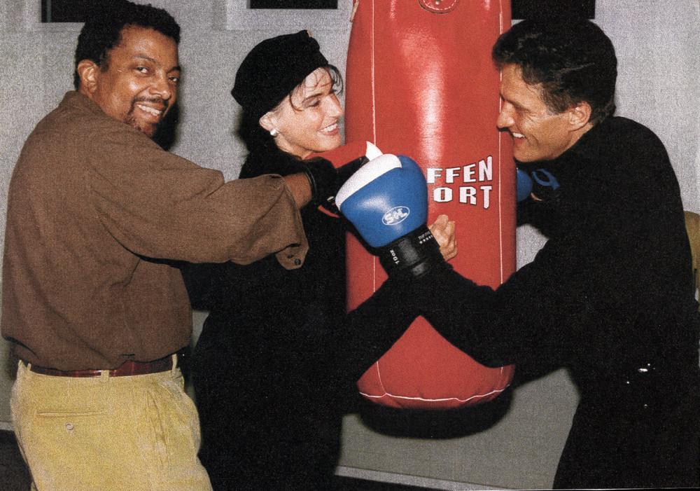 Joe Bourne US Entertainer, Angela Gerhold und Manager Klaus Dieter Schmidt