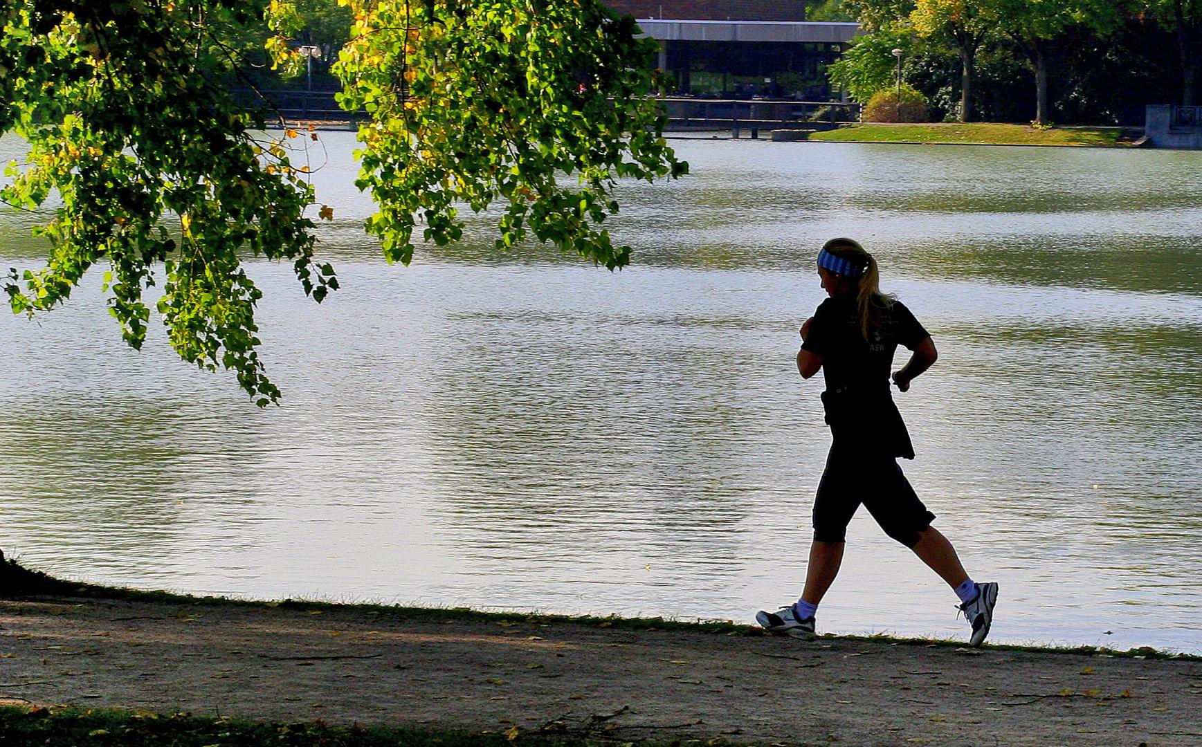 joggen am See..