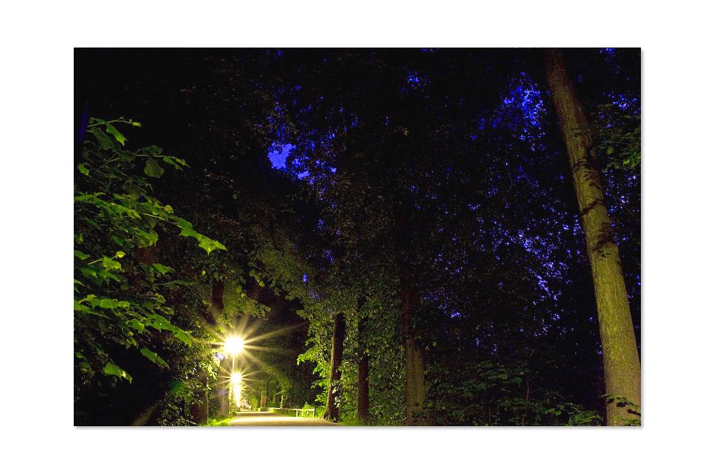 Jogger-Highway bei Nacht