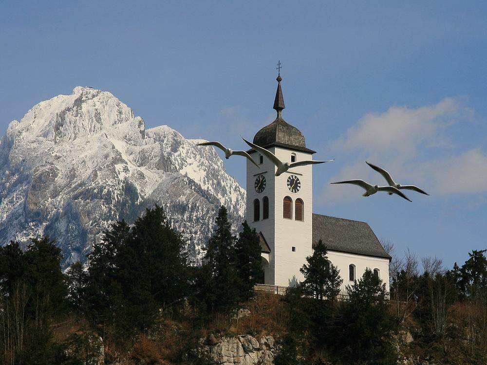 Johannesbergkapelle mit Traunstein