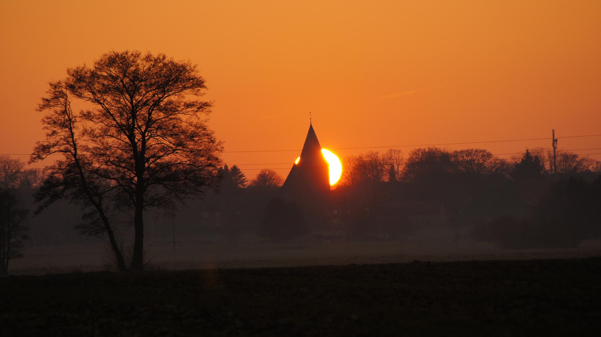 Johanniskirche/Salzhausen Sonnenuntergang