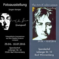 """John Lennon Liverpool"" Fotoausstellung zusammen mit ""The Art of John Lennon"" in Bad Wünnenberg"