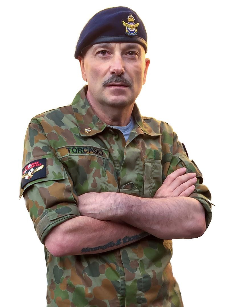 John Torcasio: Wearing Camouflage Uniform (DPCU)