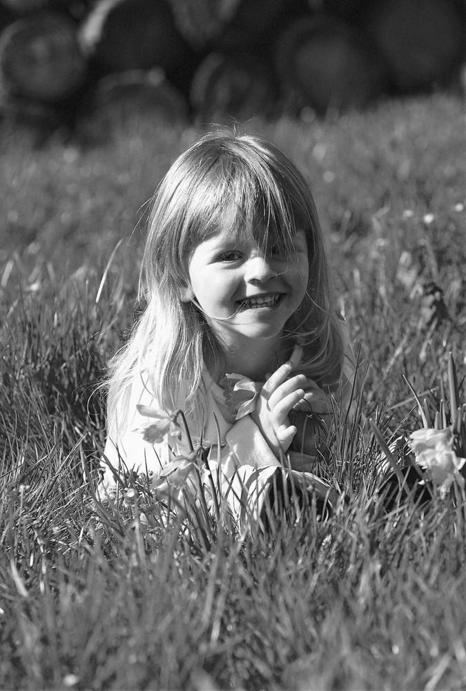jonquilles et herbe fraiche