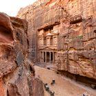 Jordanien - Petra, Schatzhaus Treasury, Khazne al-firaun