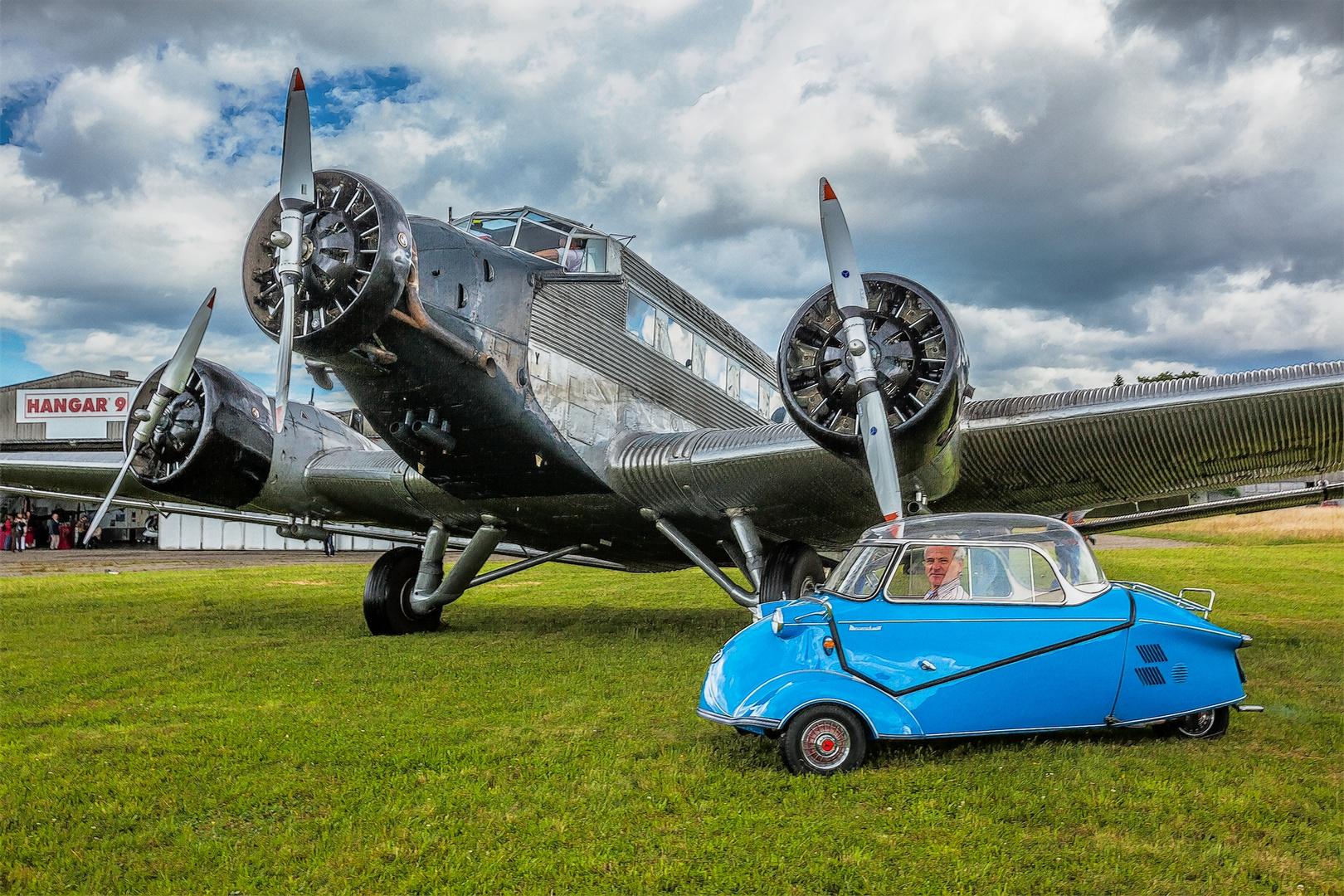 Ju 52 und Messerschmitt Kabinen-Roller
